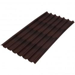 Ондулин Черепица коричневая