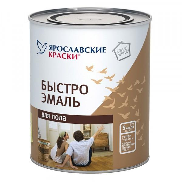 эмаль 0,9кг для пола желто-коричневая /ярославль/