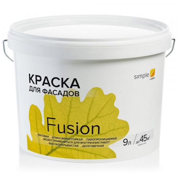 краска vincent simple fusion фасадная 9л