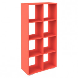 Стеллаж 8 секции красный (0,730*0,34*1,46)