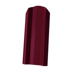 Штакетник М-образный 1800*76мм ПЭ RAL 3005 красный