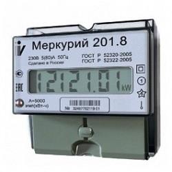 Счетчик электронный 1ф 5-60А 230В Меркурий-201.8