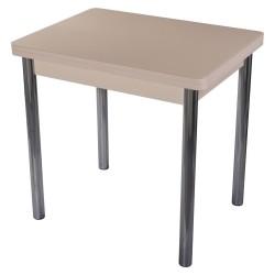 Стол Чинзано М-2 молочный дуб/ст.крем (0,6(1,2)0,8*0,75) нога 02