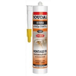 Клей Soudal для приклеивания тяжелых материалов MONTAGE FIX 50A 300мл белый
