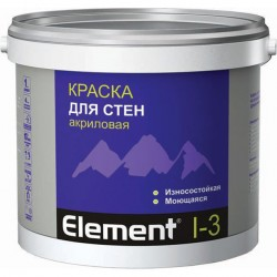 Краска элемент I-3 акриловая для стен 10л