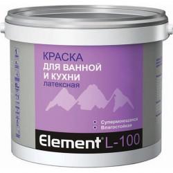Краска элемент L-100 латексная для ванной и кухни 2л