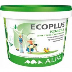 Краска латексная ECOPLUS экологичная моющаяся 10л