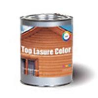 Краска Топ лазурь, база А 0,9л для защиты, декоративной отделки дер. изделий