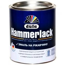 Эмаль на ржавчину HAMMERLACK гладкая 0,75л красная