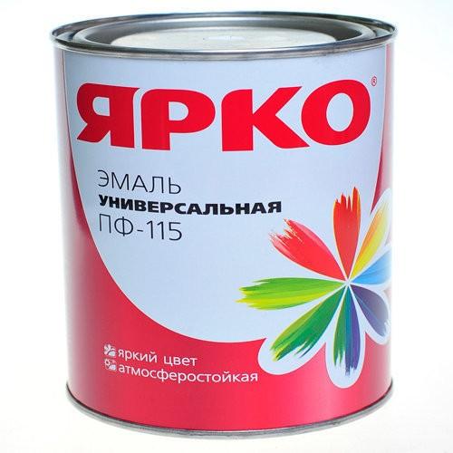эмаль ярко пф-115 1,9кг светло-серая /ярославль/