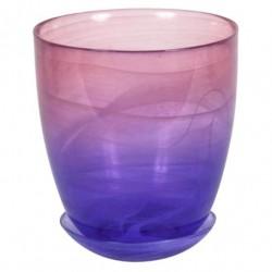 Горшок №4 93-027 15,5*18см Алебастр крашеный розово-фиолетовый 4840155098