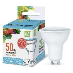 Лампа светодиодная ASD LED-JCDRC-standard 5.5Вт 160-260В GU10 4000К 495Лм