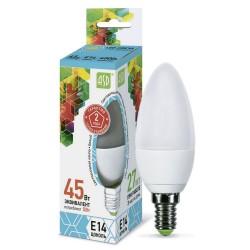 Лампа светодиодная ASD LED-СВЕЧА-standard 5Вт 160-260В Е14 4000К 450Лм