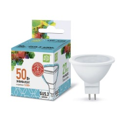 Лампа светодиодная ASD LED-JCDR-standard 5.5Вт 160-260В GU5.3 4000К 495Лм