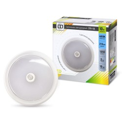 Светильник светодиодный СПБ-2Д 10Вт 160-260В 4000К 800лм IP40 210мм с датчиком белый
