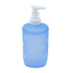 Дозатор для жидкого мыла Спираль, синий, пластик SWTP-0005B