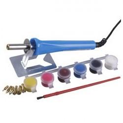 Прибор Stayer для выжигания с набором насадок 7шт и красками 45220
