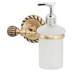 Дозатор жидкого мыла стекло/ант.бронза