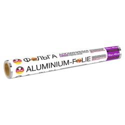 Фольга алюминиевая 10м*45см особопрочная в пленке