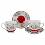 Набор чайный 4 пр 200мл на 2 персоны 389-323 керамика
