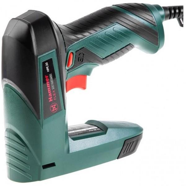 степлер электрический hammer flex hpe20 20уд/мин п 8-14мм; t 14мм скобы для степлера hammer flex 215 001 12x5x1 2 мм u образные тип 28 1000 шт