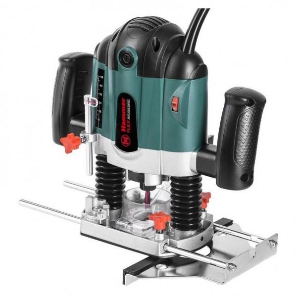 фрезер hammer flex frz1200b 1200вт, 30000об/мин, диам хвостовика 6/8мм, макс. ход 55 мм