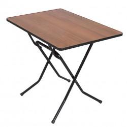 Стол складной СРП-С-103-01 каркас черный (орех, кант орех) 1,2*0,8*0,75