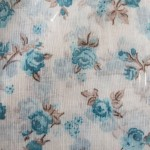 Тюль Батист 5377 1,5*2,0м, на шлевках голубой