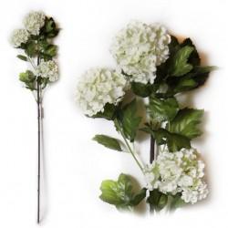 Цветок искусственный Калина h=90см белая 6-139