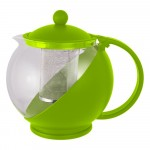 Чайник заварочный 1200мл PTP-01-1200ML (стекло, пластик корпус, металл.ситечко)