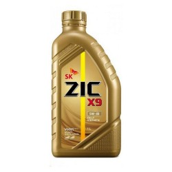 Масло моторное 5W40 1л синтетическое ZIC X9 5W40 SM/CF