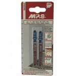 Набор пилок для лобзика 2шт по металлу MPS 3113-2