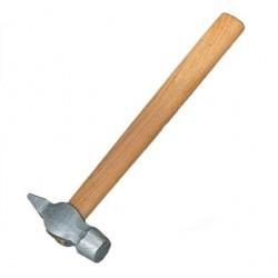 Молоток  400г слесарный с круглым бойком, деревянная ручка 10239