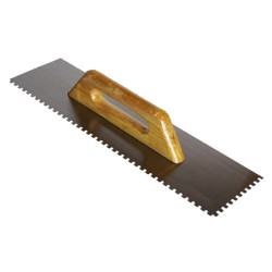 Гладилка плиточная 480*130мм зуб 6*6мм нерж. с дер. ручкой Santool 020105-480-006