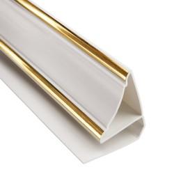Плинтус потолочный 3,0м 8мм золото Люкс