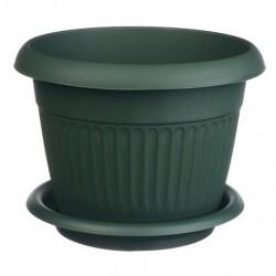 Горшок для цветов ЛИВИЯ D12см 0,6л с поддоном зеленый