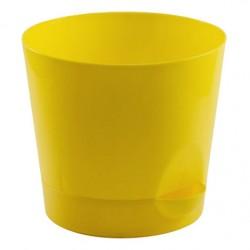 Горшок для цветов НИКА D12см 0,8л с прикорневым поливом желтый