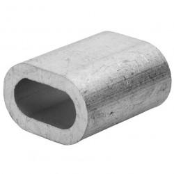 Зажим (наконечник) троса прижимной 4 мм DIN 9093 (2 шт)