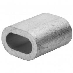 Зажим (наконечник) троса прижимной 6 мм DIN 9093 (1 шт)