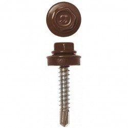 Саморез КР св. 4,8х28 RAL-8017 (шокол. корич.) (300 шт)