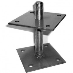 Лифт регулировочный 100*100*6,0 мм со шпилькой М24 Н=150 мм
