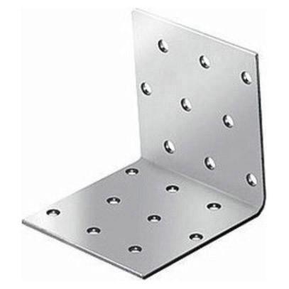 крепежный угол равносторонний-80х100х100 x 2,0 уголок плоский крепежный 40x40x10мм оцинкованный