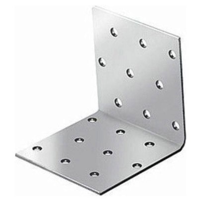 крепежный угол равносторонний-100х40х40 x 2,0 уголок плоский крепежный 40x40x10мм оцинкованный