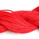 Шнур ПП текстильный 2,0мм красный (50м)