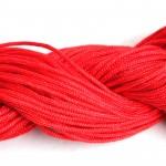 Шнур ПП текстильный 3,0мм красный (50м)