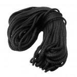 Шнур ПП текстильный 8,0мм черный (15м)