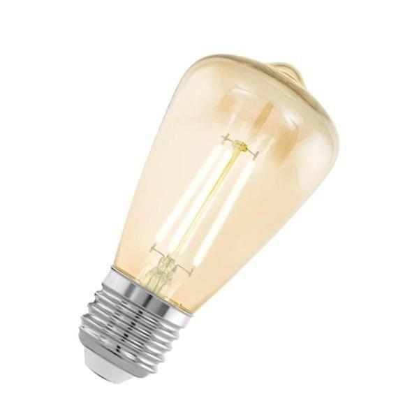 лампа декоративная светодиодная филаментная st48 (янтарь), 3,5w (e27), 2200k, 220lm