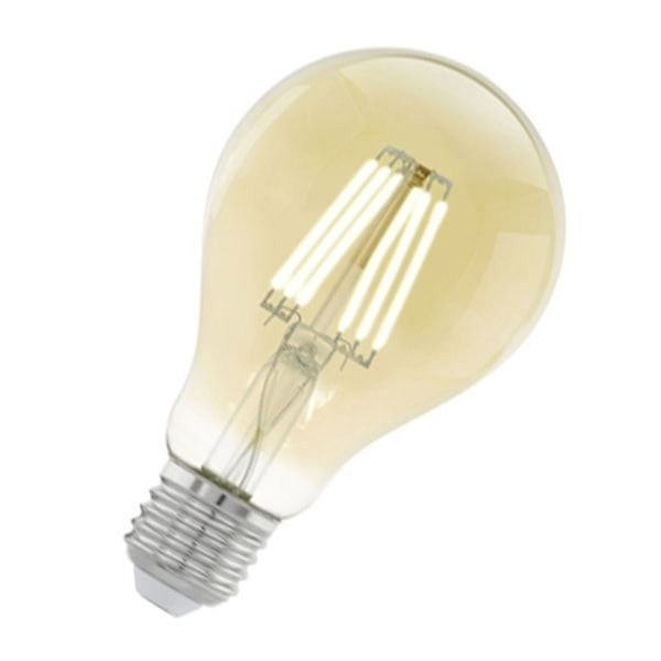 лампа декоративная светодиодная филаментная a75 (янтарь), 4w (e27), 2200k, 320lm