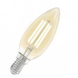 Лампа декоративная светодиодная филаментная C37 (янтарь), 4W (E14), 2200K, 220lm