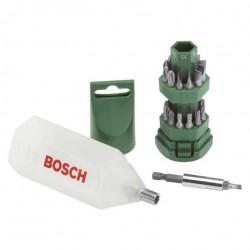 Набор бит 25шт S4/S6/S7/PH1/PH2/PH3/PZ1/PZ2/PZ3/T20/T25 по 2 шт Bosch 2607019503